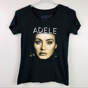 Adele Concert Band T-shirt Black Size Small